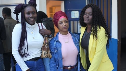 Etudiants africains a l'institut image